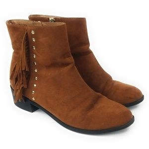 TOPSHOP Bronco Micro Fringe Womens Boots Size 6